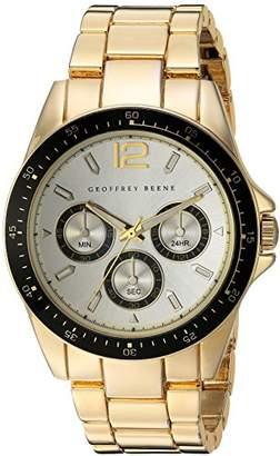 Geoffrey Beene Men's GB8068GDCHBK Analog Display Japanese Quartz Gold Watch