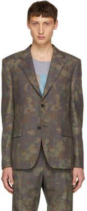 Stella McCartney Grey and Black Wool Splatter Blazer