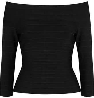 Off-the-shoulder Bandage Top - Black