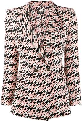Elisabetta Franchi monogram print blazer