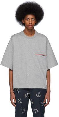 Thom Browne Grey Oversized Pocket T-Shirt