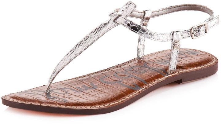 Sam Edelman Gigi Snake-Embossed Thong Sandal