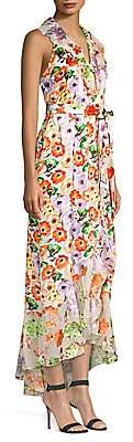 Alice + Olivia Women's Evelia Asymmetric Floral Maxi Dress