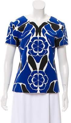 Alexander McQueen Floral Short Sleeve Blouse w/ Tags