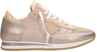 6a3f74c00f0a Philippe Model Tropez Mondial Metal Pink Suede Sneakers
