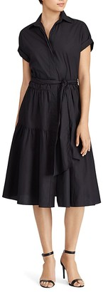 Lauren Ralph Lauren Fit-and-Flare Shirt Dress $125 thestylecure.com