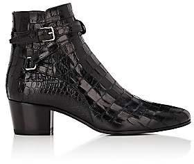 Saint Laurent Women's Blake Leather Jodhpur Boots-Black