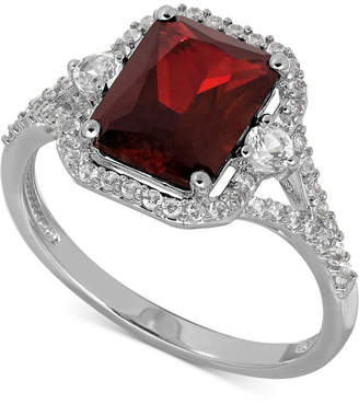 Macy's Lab-Created Ruby (3-1/10 ct. t.w.) and White Sapphire (3/8 ct. t.w.) Ring in Sterling Silver