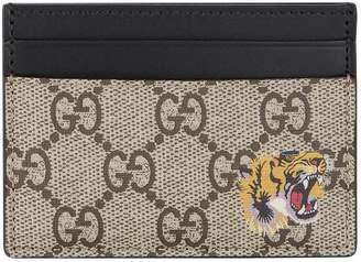 Gucci Supreme Tiger Card Holder