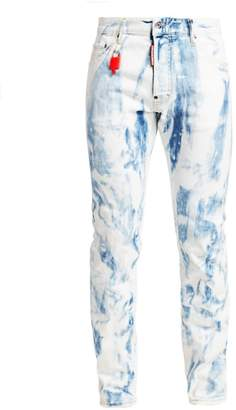 DSQUARED2 Cool Guy Shredded Acid Wash Jeans