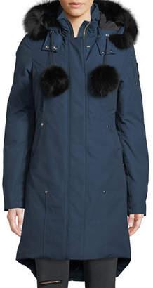 Moose Knuckles Stirling Parka w/ Detachable Hood & Fur Trim