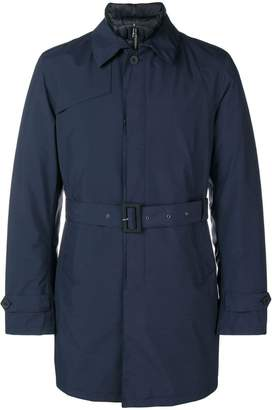 Herno belted fitted trench coat