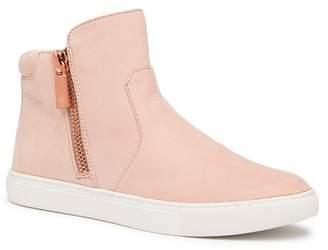 Kenneth Cole New York Kiera Leather Side Zip Sneaker