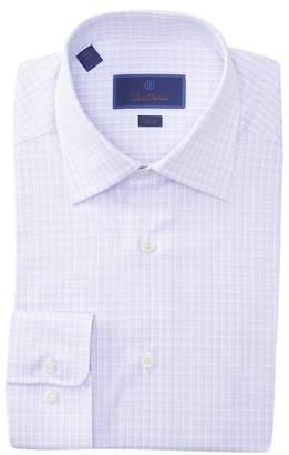 David Donahue Slim Fit Plaid Dress Shirt