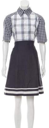 Thom Browne Checkered Knee-Length Dress