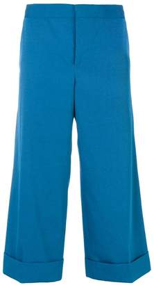 Marni Techno wide leg capri trousers