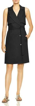 Halston Sleeveless Trench Dress
