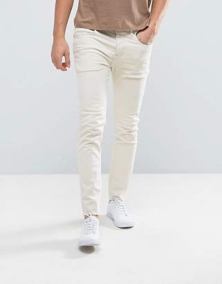 Selected Jeans in Skinny Fit with Raw Hem
