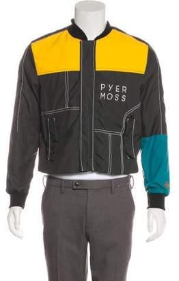 Pyer Moss Colorblock Bomber Jacket