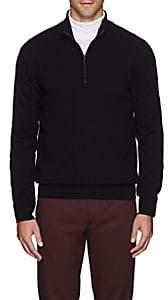Barneys New York Men's Cashmere Half-Zip Sweater - Black