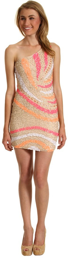Type Z Belinda Dress (Nude/Pink) - Apparel