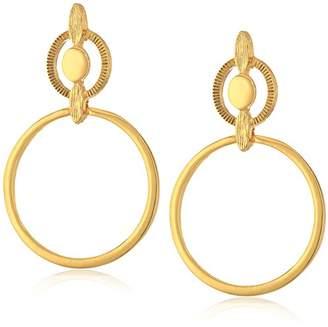 Badgley Mischka Metal Geo Gold Hoop Earrings
