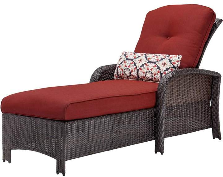 Cambridge Silversmiths Cambridge Corolla Luxury Chaise Lounge Chair - Red