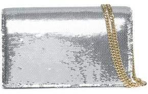 Diane von Furstenberg Sequined Leather Shoulder Bag
