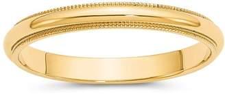 Bloomingdale's Men's 3mm Milgrain Half Round Wedding Band 14K Yellow Gold - 100% Exclusive