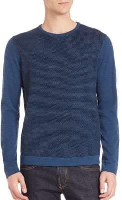 Saks Fifth Avenue Two-Tonal Knit Merino Wool Sweater