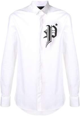 Philipp Plein monogram angel print shirt