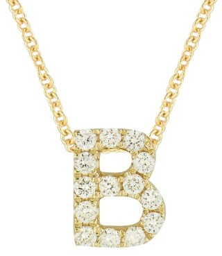 Women's Bony Levy Pave Diamond Initial Pendant Necklace (Nordstrom Exclusive) $498 thestylecure.com