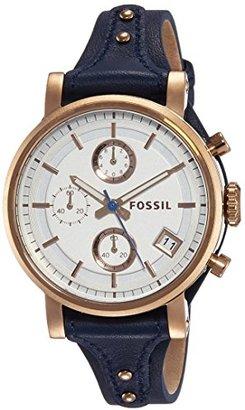 Fossil Women's ES3838 Original Boyfriend Chronograph Leather Watch $145 thestylecure.com