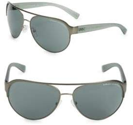Giorgio Armani 62MM Grey Aviator Sunglasses