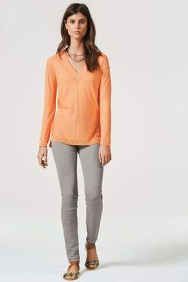 Next Womens Orange V-Neck Sweater