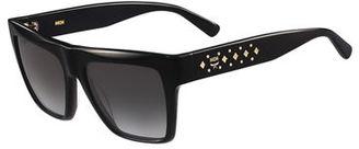 MCM Side-Studs Flat-Top Plastic Sunglasses $276 thestylecure.com