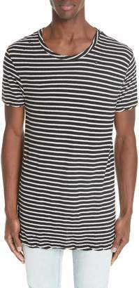 Ksubi Sinister Distressed Stripe T-Shirt