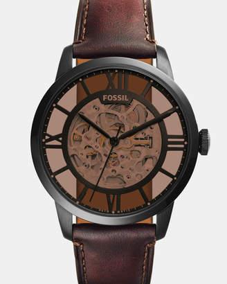 Fossil Townsman Dark Brown Automatic Mechanical Watch