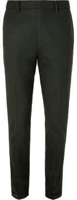 NN07 Dark-Green Noho Slim-Fit Stretch-Wool Trousers