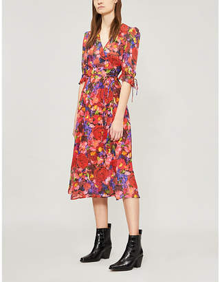 The Kooples Floral-print silk dress