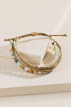 francesca's Lennon Semi Precious Bracelet - Olive