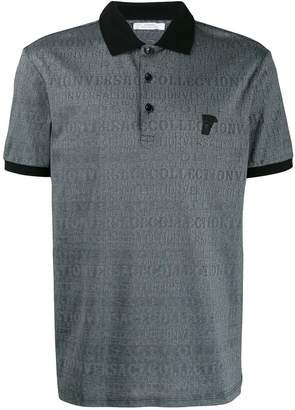 Versace all-over logo print polo shirt