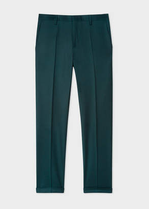 Paul Smith Men's Slim-Fit Forest Green Wool And Cashmere-Blend Pants