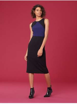 Diane von Furstenberg Sleeveless Tailored Midi Dress