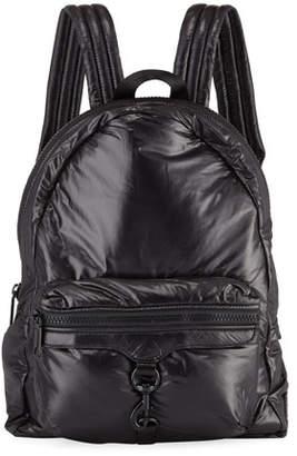 Rebecca Minkoff Riley Tall Puffy Backpack, Black
