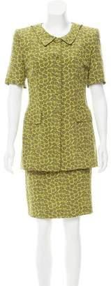 Rena Lange Printed Silk Skirt Set