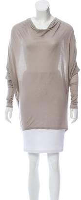 Helmut Lang Cowl Neck Long Sleeve Top