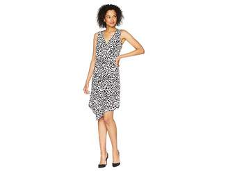 Ellen Tracy Twisted Front Sleeveless Dress Women's Dress