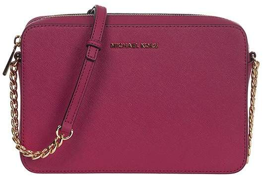 Michael Kors Jet Set Large Shoulder Bag - CHANBERRY - STYLE
