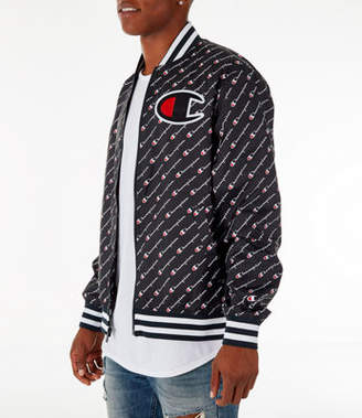 Champion Mens Satin Baseball Jacket